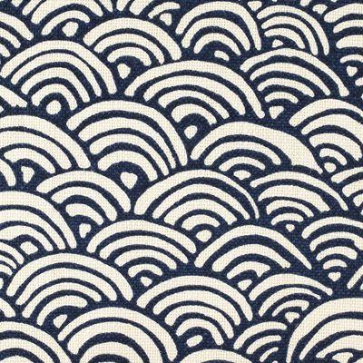 Fabric - Rainbow Ld Navy Medallion/Tile Fabric Pattern