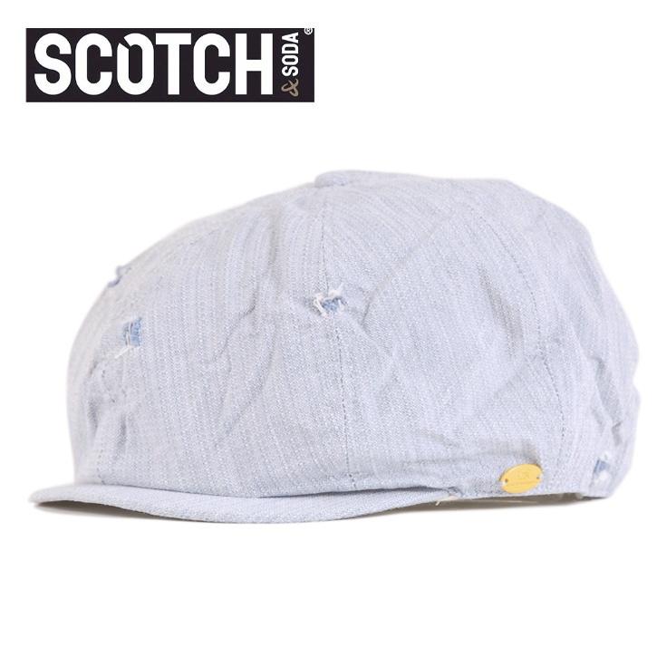 SCOTCH (スコッチアンドソーダ) キャスケット ライトブルー SC72101-31 Col.E cap-sc-019