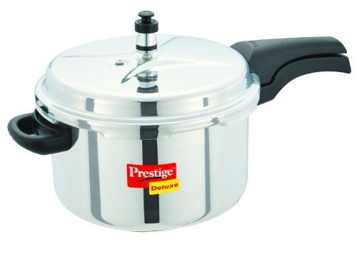 Prestige Deluxe Stainless Steel Pressure Cooker, 6.5 Liters // http://cookersreview.us/product/prestige-deluxe-stainless-steel-pressure-cooker-6-5-liters/  #cooker #pressure #electric