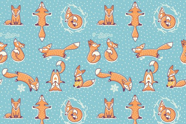 Christmas foxes - Patterns - 2