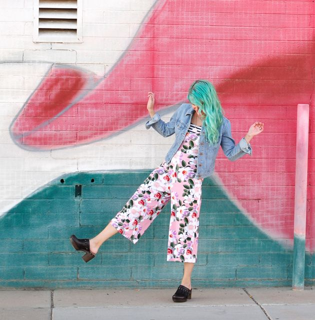 70s vibes with Dansko Deni clogs from Dillards & jumpsuit from ASOS