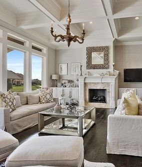 Neutral Inviting Living Room Look By Troyer Builders Inc On Houzz Is Styled With