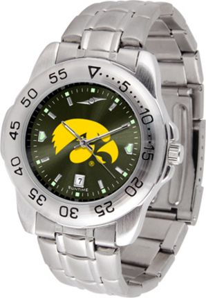 Iowa Hawkeyes Sport Steel Band Ano-Chrome Men's Watch