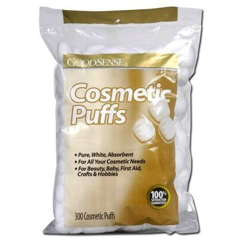 Good Sense Cosmetic Puffs 300-Count (Pack of 36) by Good Sense. $57.59. This item is sold by cases of: 36 items. Good Sense Cosmetic Puffs300 ct..Proudly made in the USA.