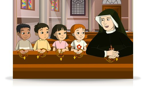 The Divine Mercy Chaplet for Kids  Kids - Fridays 4:30 PM ET    St. Faustina teaches her young friends Kristin, Enrique and others about the Divine Mercy Devotion and how to pray the Divine Mercy Chaplet in this engaging children's program.