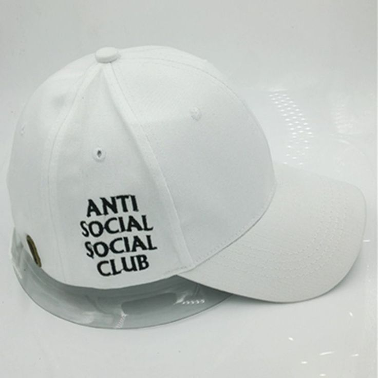 Antisocial Social Club Anti Social Club Hat Baseball Cap Street Wear NEW White #Adjustable #BaseballCap