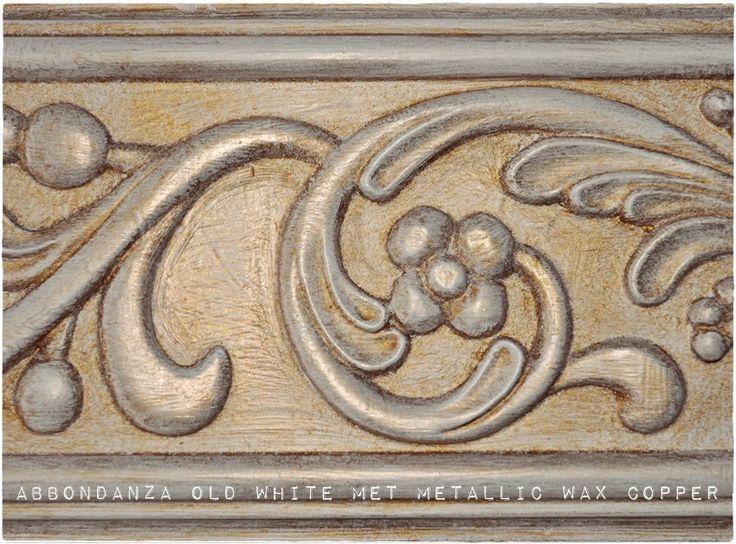 Abbondanza krijtverf Old White met Metallic Wax Copper