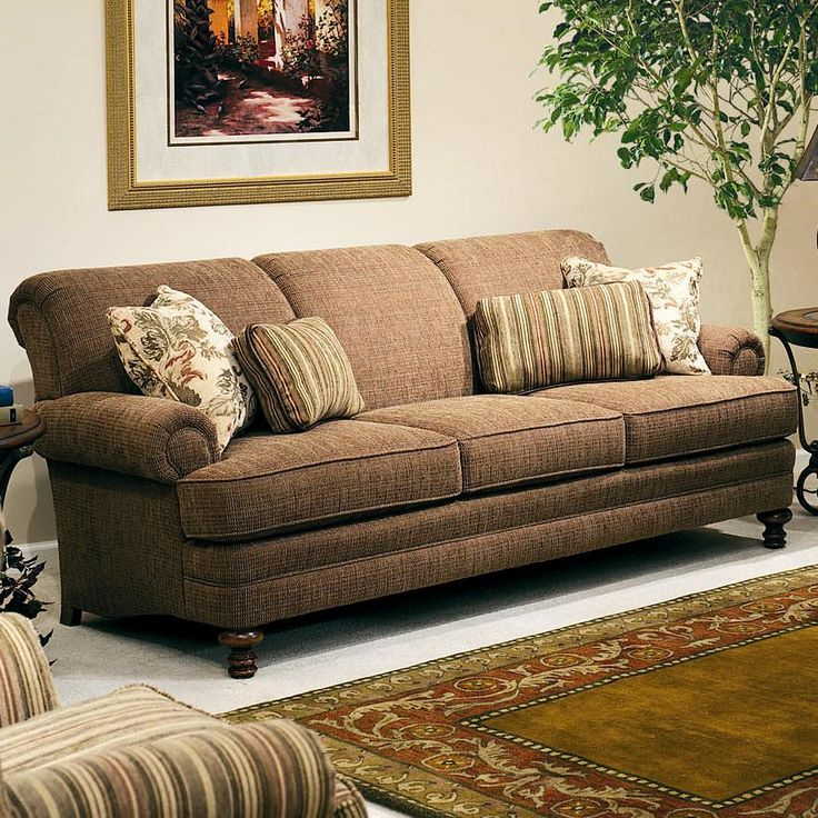 346 Upholstered Stationary Sofa By Smith Brothers   Wolf Furniture   Sofa  Pennsylvania, Maryland, Virginia