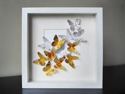 cuadros con mariposas de papel - Buscar con Google