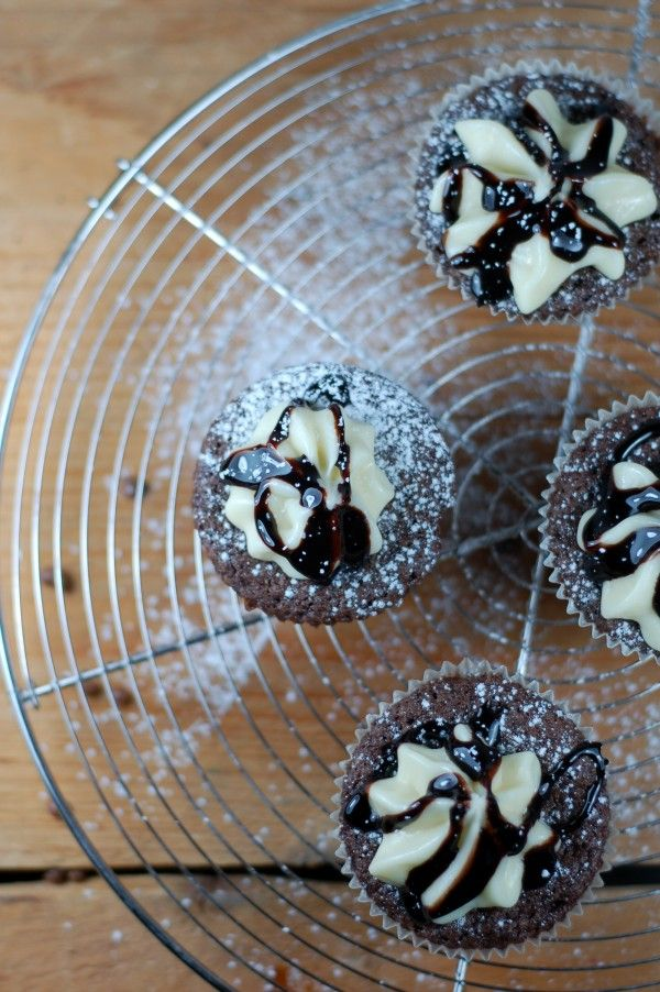 Sega chokladcupcakes