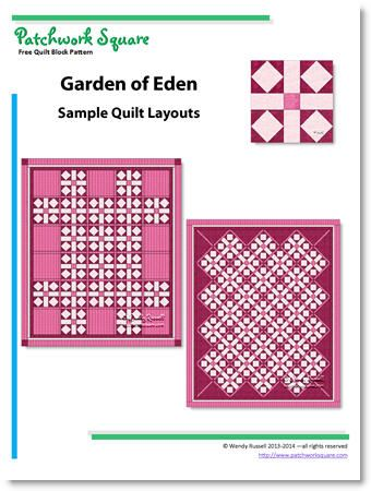 1000 images about free quilt block patterns on pinterest for Garden of eden xml design pattern