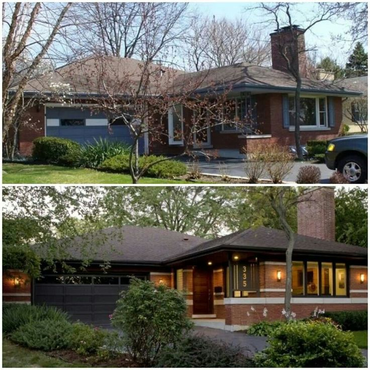 Prairie modern ranch house remodel mid century modern pinterest easter recipes modern House transformations exterior