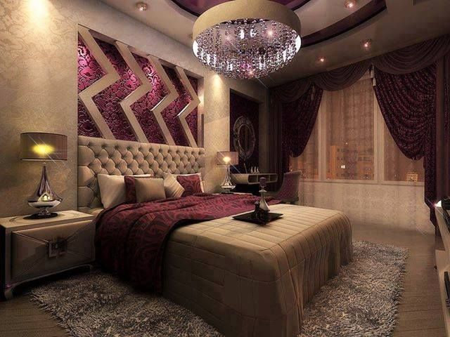 Tan purple bedroom dream house decor ideas for Suhagrat bed decoration design