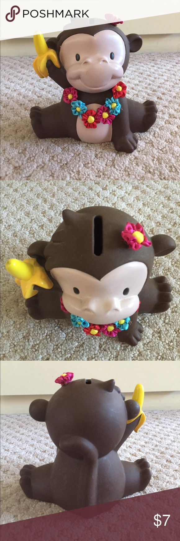 Monkey Piggy Bank Tropical themed Monkey piggy bank || Used but in mint condition || *Money is not included (lol)* Old Navy Other