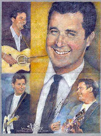 This portrait along with three others I painted, I got the artists to sign their portrait and then donated them to our Country Music radio station for their St. Judes auction.