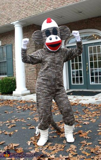 Sock Monkey Costume - 2013 Halloween Costume Contest via @costumeworks