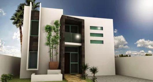 Fachadas de Casas Modernas: Casa con fachada moderna y balcón