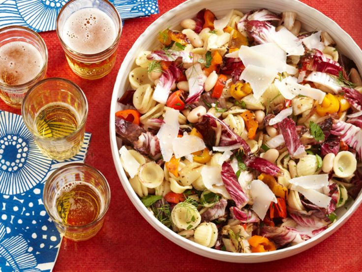 Tuscan Pasta Salad With Grilled Vegetables recipe from Food Network Kitchen via Food Network