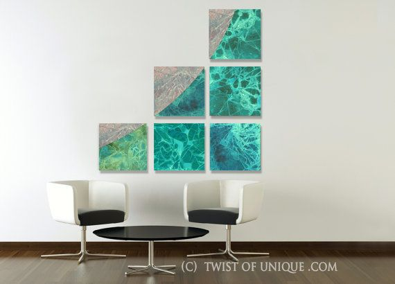 Large custom office abstract painting 6 panel 15 by twistofunique 450 00 abstract wall artabstract
