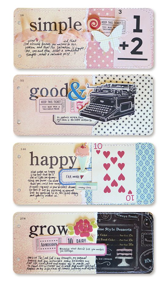 Love these collages on long word tags by wilna furstenberg