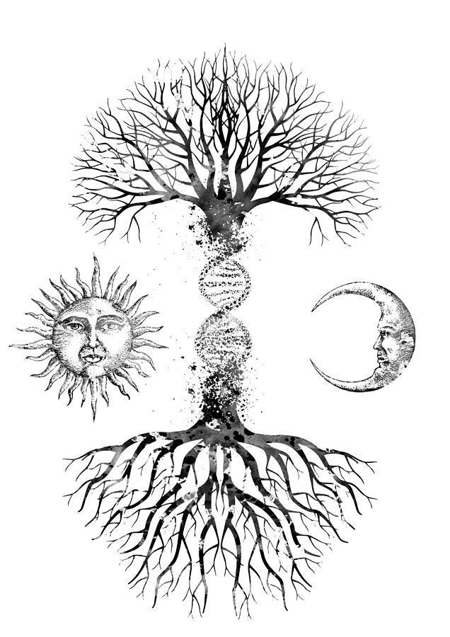 Dna Tree Digital Art Dna Tree By Erzebet S Yggdrasil Tattoo Tree Tattoo Designs Art