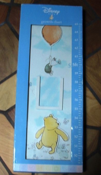 Winnie the Pooh Child's Wood Growth Chart with Photo Frames NEW Baby Shower Gift #Disney