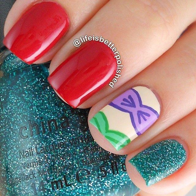 Little Mermaid Nails: Best 20+ Little Mermaid Nails Ideas On Pinterest