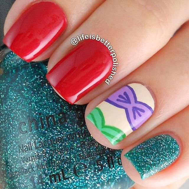 Instagram media by lifeisbetterpolished #nail #nails #nailart. Little  MermaidsLittle ... - Best 25+ Little Mermaid Nails Ideas On Pinterest Little Mermaid