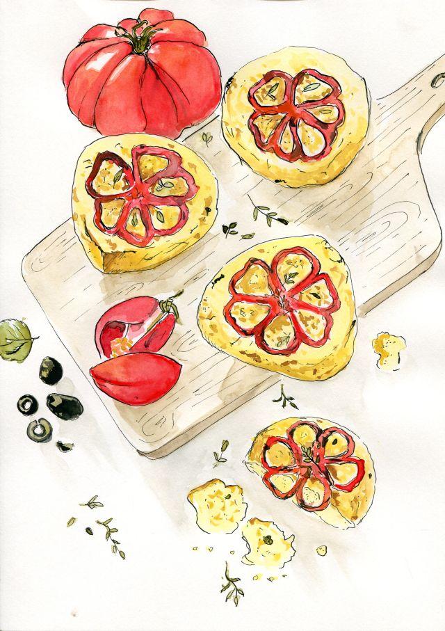 Buleczki z pomidorem
