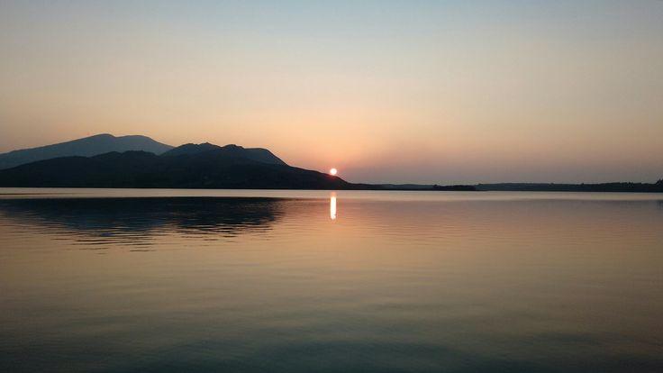 Sunset at Caragh Lake House