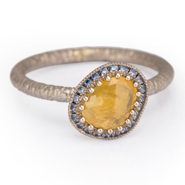 #Yellow #Sapphire #RoseCut by James Newman http://www.fldesignerguides.co.uk/engagement-ring-designer/james-newman