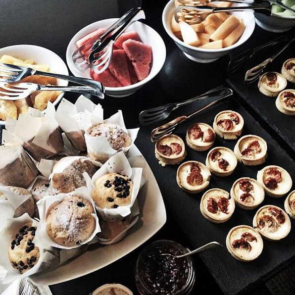 A delicious spread for a special event at Grand Hyatt Melbourne via @___jessicalauren