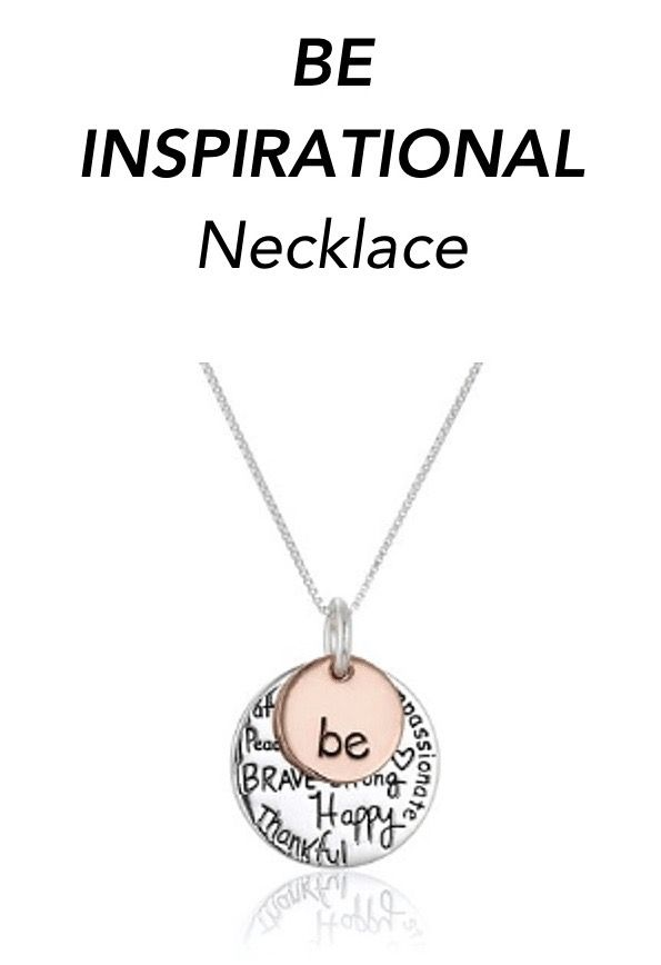 An inspirational necklace with a powerful message.