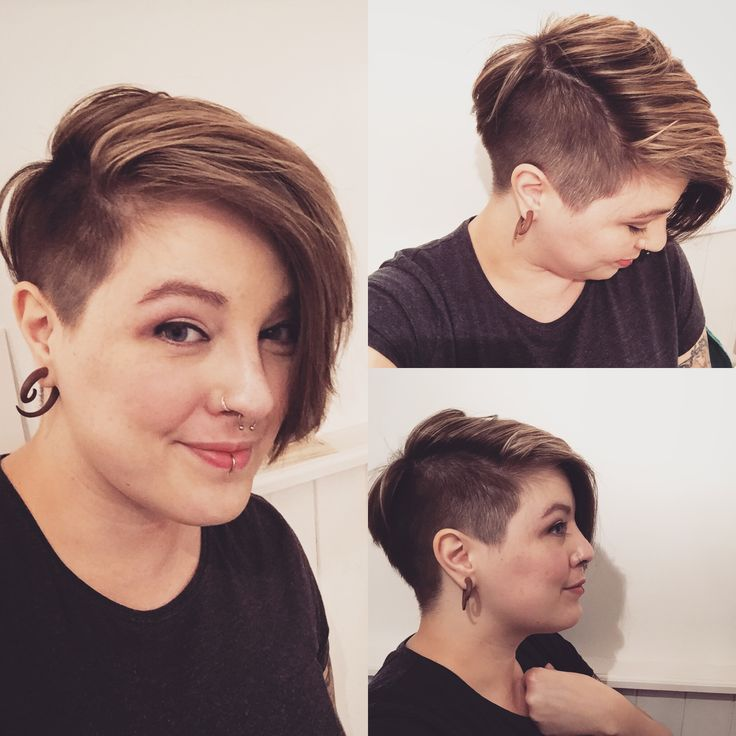 Super happy with my new short half shaved hair