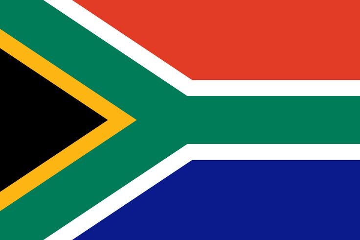 This is the national South African Flag. The Y in the flag symbolizes people of different backgrounds uniting.