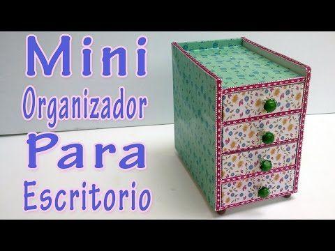 Manualidades mini organizador para escritorio - Organizador escritorio ...