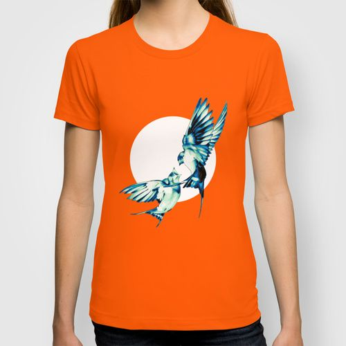 Birds T-shirt by Nuam | Society6  ☀ ☀ ☀    #Bird, #Vector, #Swallow, #Spring, #Nature, #Birds, #Animal, #Animals, #Illustration, #Love, #Family, #Trust, #Feed, #Food, #Hipster, #Swallows, #Care, #Fly, #Spring, #Wings, #TwoBirds, #Romantic, #Bohemian, #Fly, #Flying #FlyingBird, #FlyingBirds #Decorative #tee #tshirt #vneck #clothing #newstyle #fresh #tanktop #summer #summerware