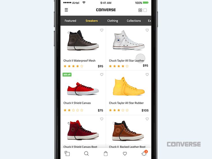 Converse add to cart interaction – iOSUp