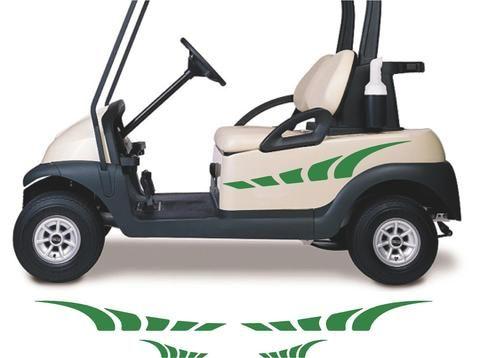 golf cart go cart stickers graphics decals tribal flames. Black Bedroom Furniture Sets. Home Design Ideas