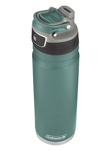 1fe90c8f66 Coleman FreeFlow AUTOSEAL Insulated Stainless Steel Water Bottle, Seafoam,  24 oz.. For