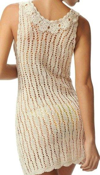 crochet dress with chart {back}
