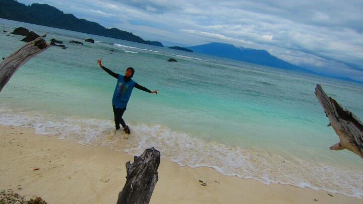 Here, i'm at Umang-umang Island #Indonesia.