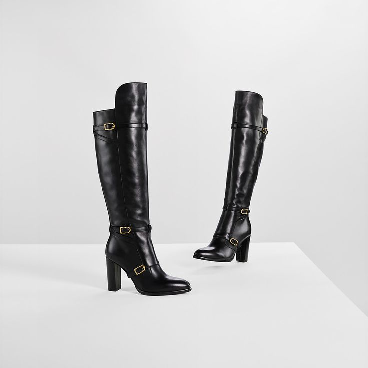 Overknee-stiefel Aus Leder Von Gigi Hadid | BLACK | Tommy Hilfiger®…
