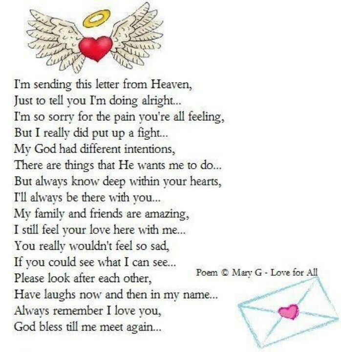 Letter from heaven | Poems | Pinterest | Letter From ...
