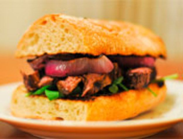 Indoor Grilling: Guinness-Marinated Steak Sandwich