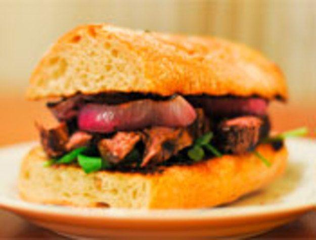 Indoor Grilling: Guinness-Marinated Steak Sandwich