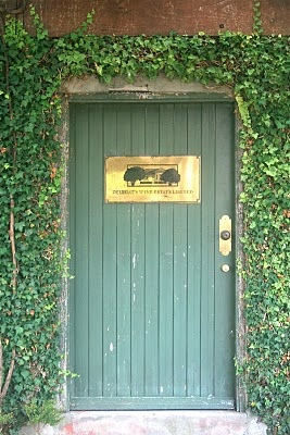 Doorway to original cellar, Delegat's Wine Estate, Auckland, NZ