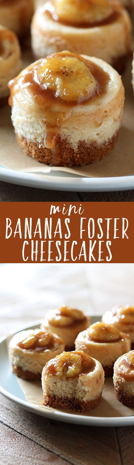 No need to visit a fancy restaurant to enjoy Bananas Foster! Mini Bananas Foster Cheesecakes have tons of caramelized banana flavor and luscious texture. Not to mention they're perfectly adorable!