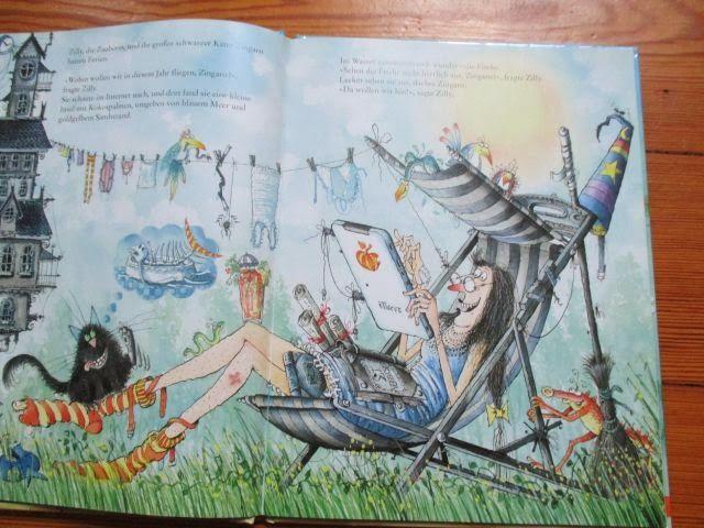 Para niños: <i>La bruja Brunilda (Zilly die Zaubering)</i>, Korky Paul y Valerie Thomas   Meriendo libros