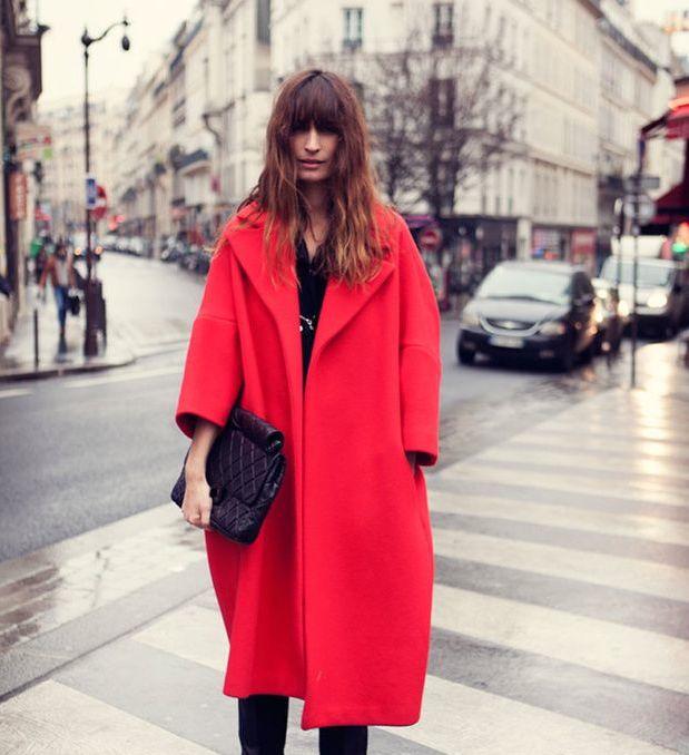 gorgeous oversized red coat